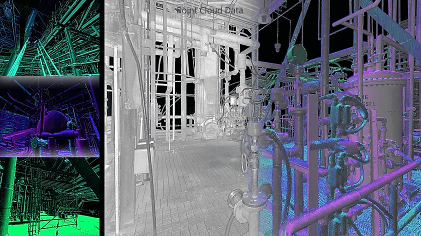 Point cloud data from laser scanning